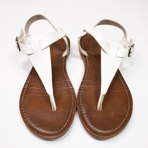 Mossimo White/Brown Faux Leather Sandal